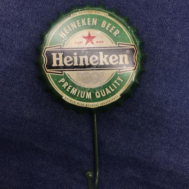 Heineken クラウンキャップ  フック ブリキ缶 インテリア アメリカ雑貨
