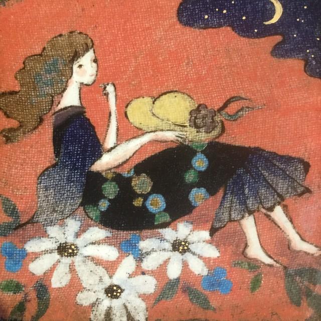 西美紀 / 【帽子と女の子】 絵皿 陶画