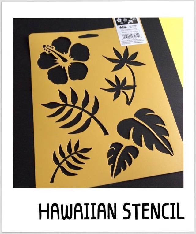 """ステンシルシート """"Tropical Plants"""