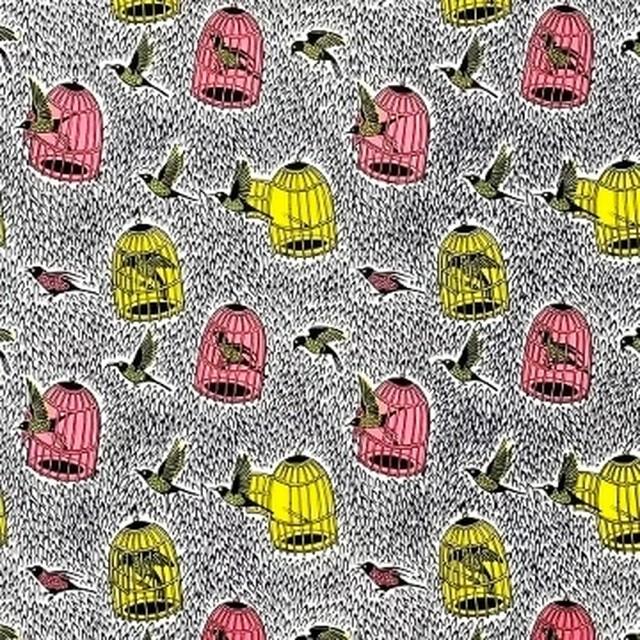 アフリカンファブリック お財布袋 Birdcage 巾着オーダー