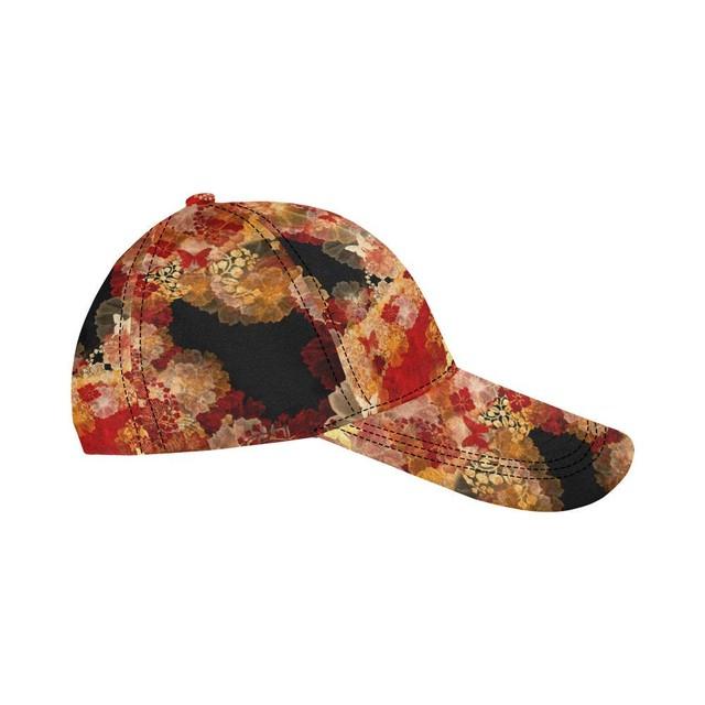 家紋と華 Black Pink Baseball Cap