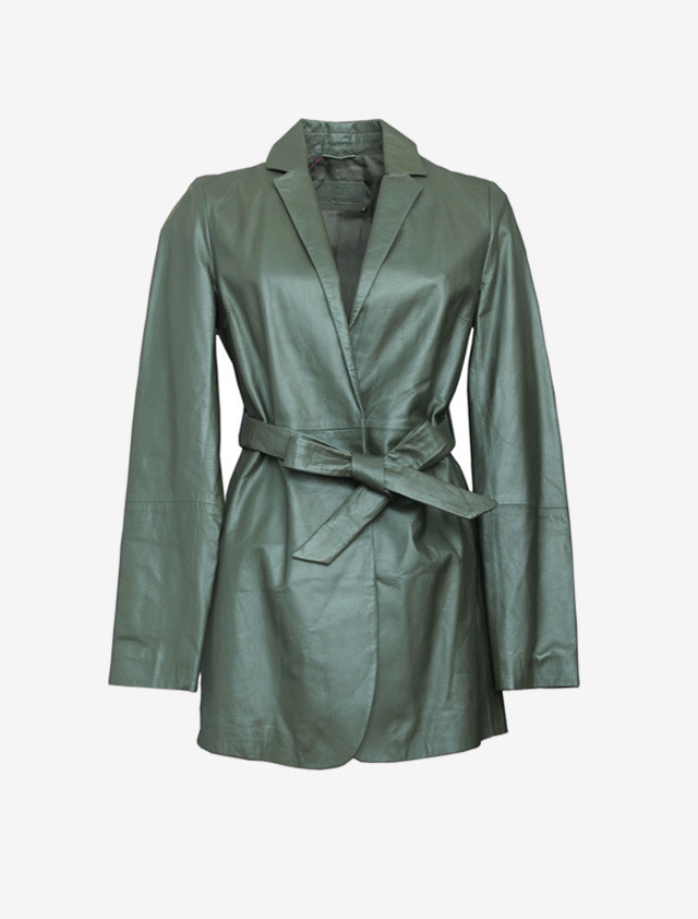 BRUNOMAGLI LETHER SHORT COAT