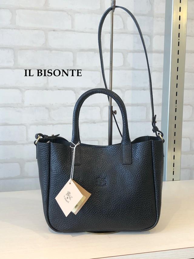 IL BISONTE(イルビゾンテ)/ショルダー付きハンドバッグ/04214(ブラック)
