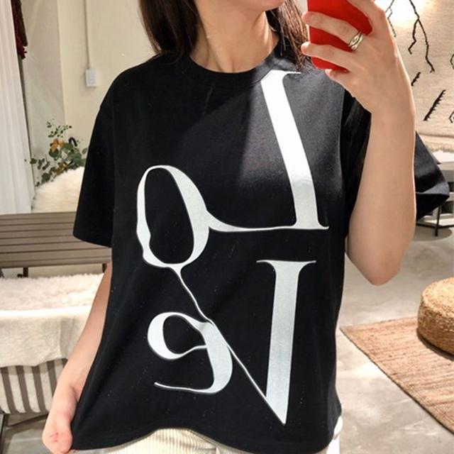 ロゴTシャツ シンプル ベーシック モノトーン★2色