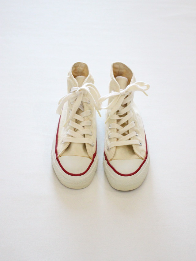 1980'S Deadstock Converse All Start Basketball  MADE IN THE U.S.A.  YOUTHS Hi  13