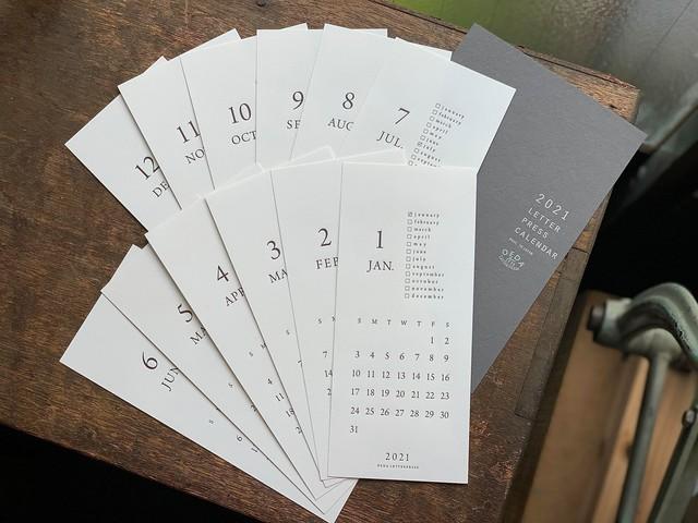 【20%OFF】LETTERPRESS カレンダー 2021
