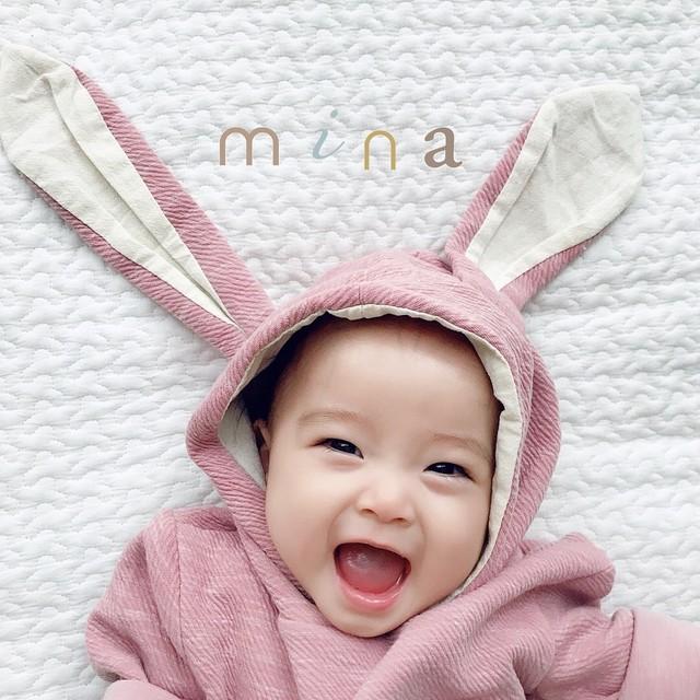 10/11 Re stock!!【即納】064 ラビットロンパース 出産祝い  女の子 男の子 赤ちゃん