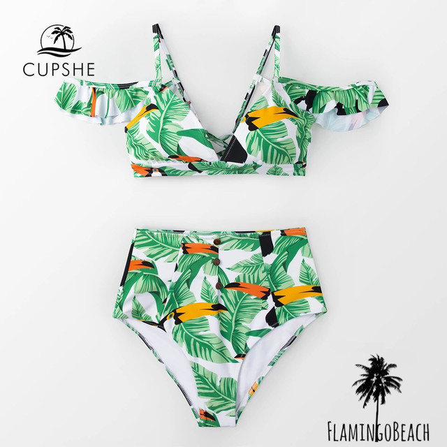 【FlamingoBeach】】bird leaf bikini ビキニ