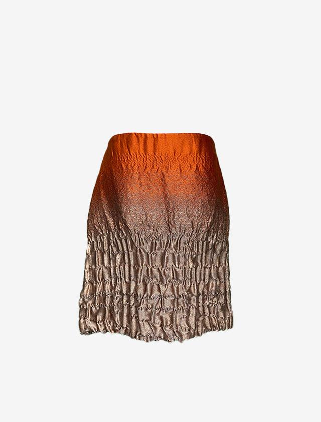 レア PRADA プラダ AWコレクション メタリック スカート