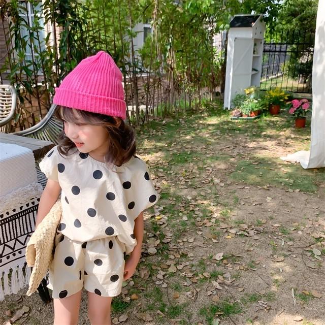 【夏物予約】ドット柄セットアップ