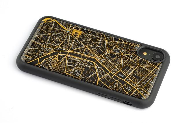 FLASH Paris回路地図 iPhone XRケース 黒【東京回路線図A5クリアファイルをプレゼント】
