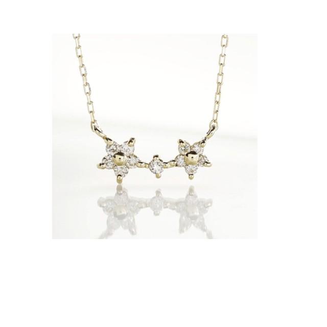 【鑑別書付】 0.2ct 天然 ダイヤモンド K18GP 馬蹄 ペンダント ネックレス