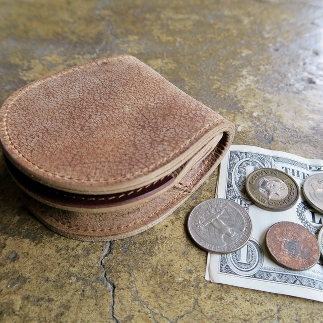 CARTRIDGE COIN CASE    KUDU ITALIAN LEATHER