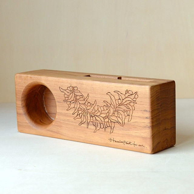 Wood eco speaker [Mile Lei / wood:ウォルナッツ] 【WES-MIL-L-3】