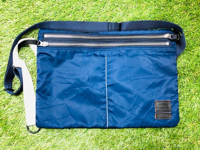 MARNI × PORTER 9TH P/T CHLORIDE COMPACT SHOULDER BAG NAVY 65JG7218