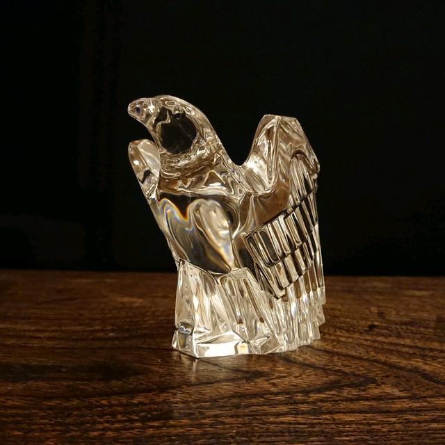 Steuben/スチューベン Eagle クリスタルガラス イーグル 鷲 オブジェ ペーパーウェイト