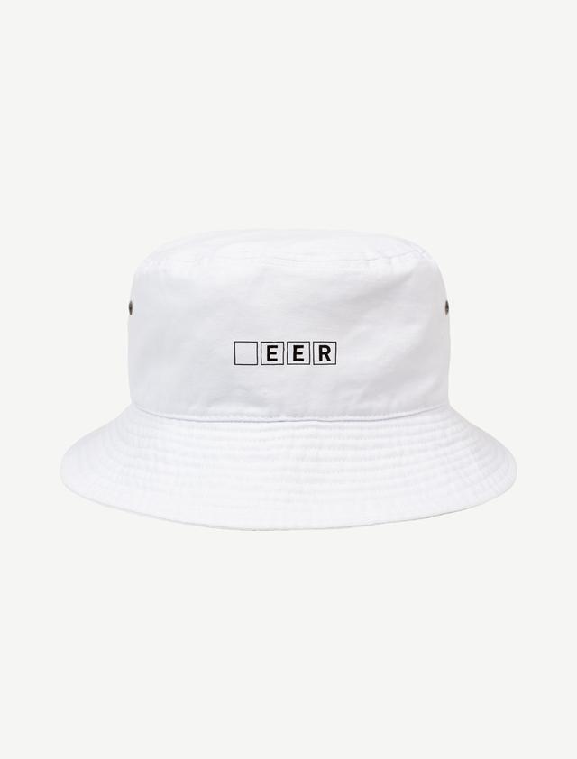 【□EER】バケットハット(ホワイト)