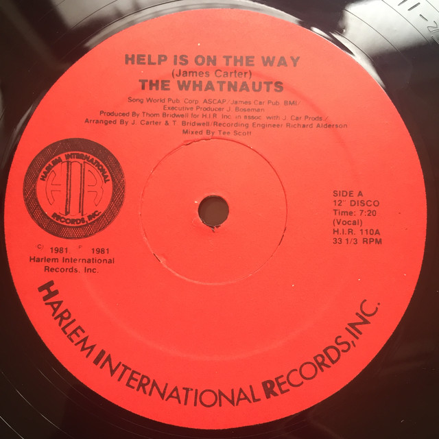The Whatnauts ‎– Help Is On The Way