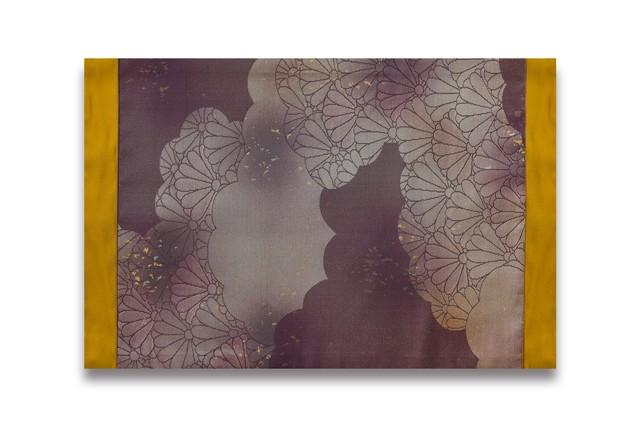 ランチョンマット/ 古代錦・名古屋帯「瑞雲」鈍紫/ ORM-NKOD-M44-C52-14
