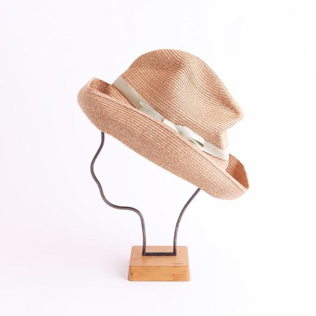 mature ha./BOXED HAT 101 mixbrown×light celadon