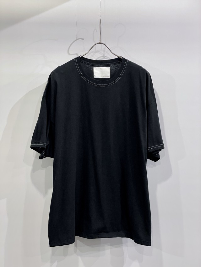 TrAnsference wide fit T-shirt - complete black garment dyed