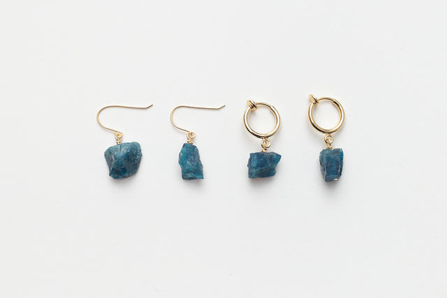 mineralogical fook & earring / apatite