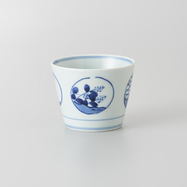 """【青花】""""Classic"""" そば猪口[大](丸紋)"""
