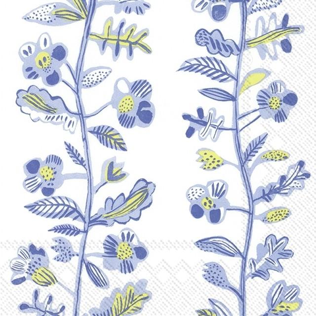 2021春夏【IHR】バラ売り2枚 ランチサイズ ペーパーナプキン SUMMER ANNICA ホワイト