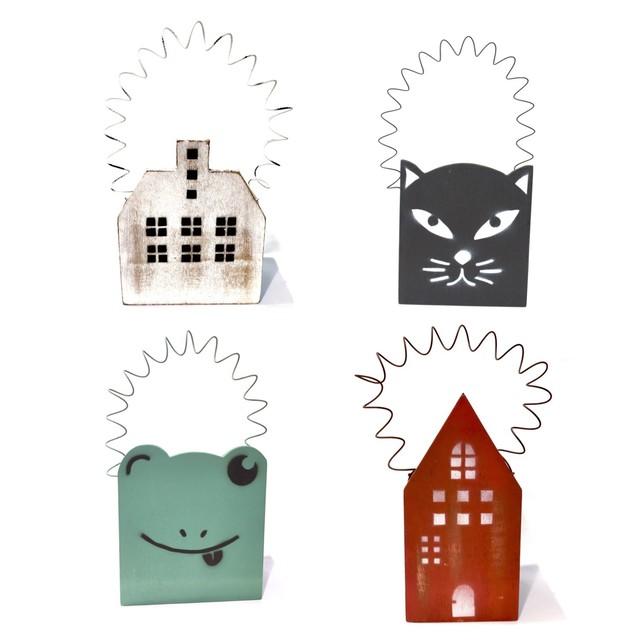 木製プランター Lサイズ カエル 黒猫 ハウス 赤 白 ホワイト レッド ウッド ナチュラル 鉢カバー 小物入れ 観葉植物 サボテン 多肉植物 木製鉢 大 az-1602-04-08-12