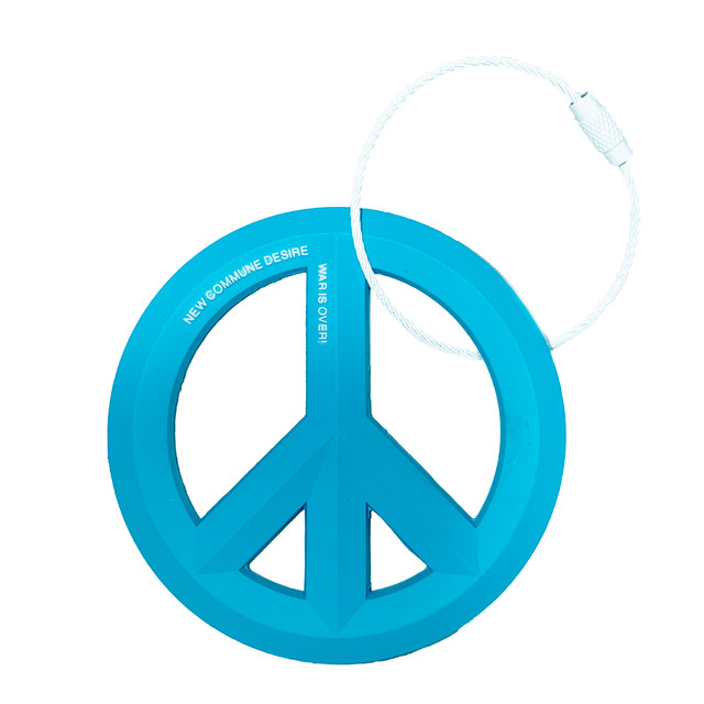 Wire Ring KeyChain (PEACE) / Blue - メイン画像