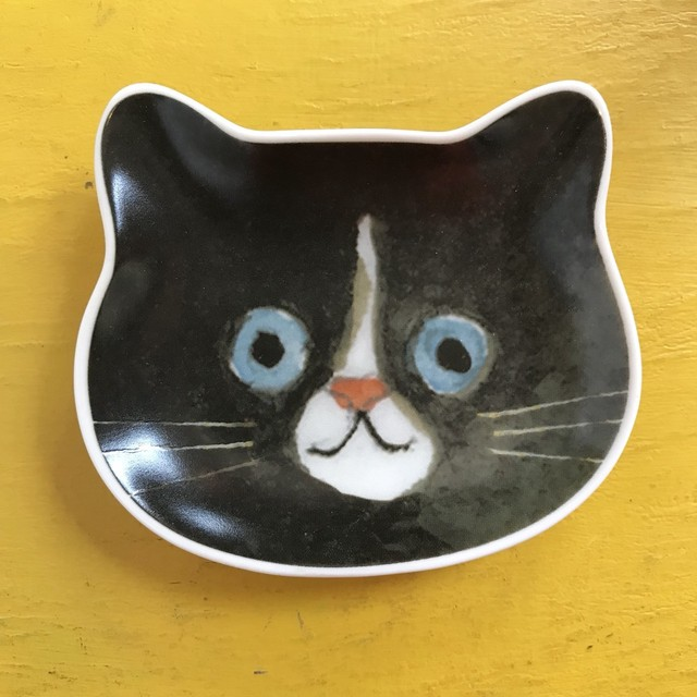 ecoute! minette 豆皿 黒ネコ