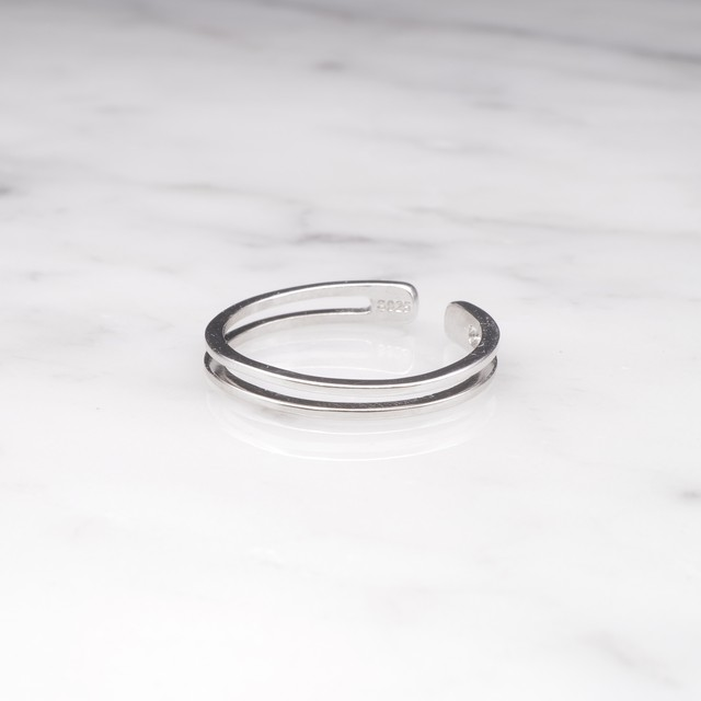 S925 THIN LAYERED RING SILVER