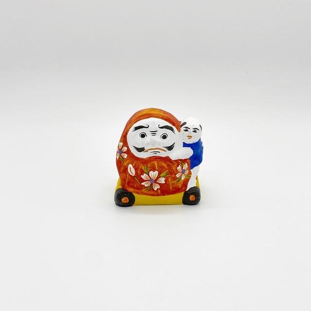 花巻人形 達磨車乗り童子