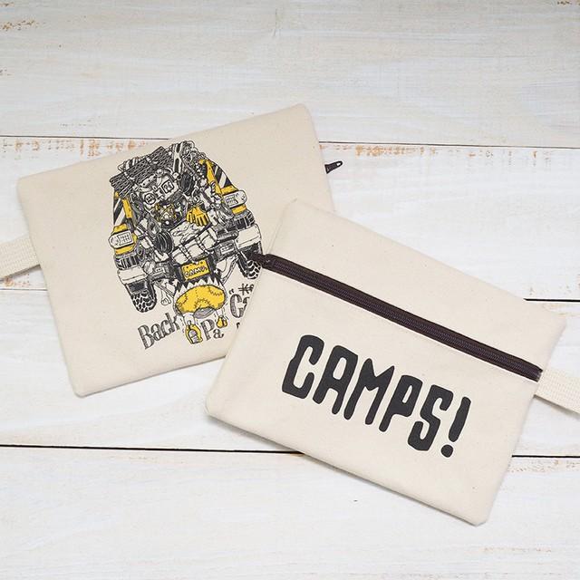 CAMPS ジッパード ポーチ【バックパッカー】