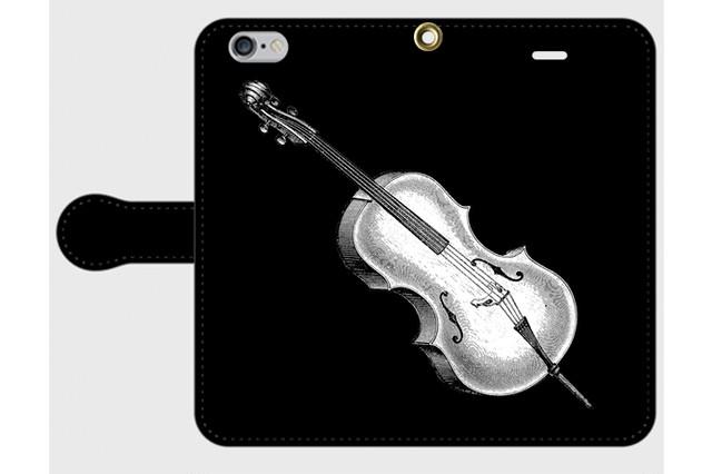 (iPhone用)チェロの手帳型スマホケース