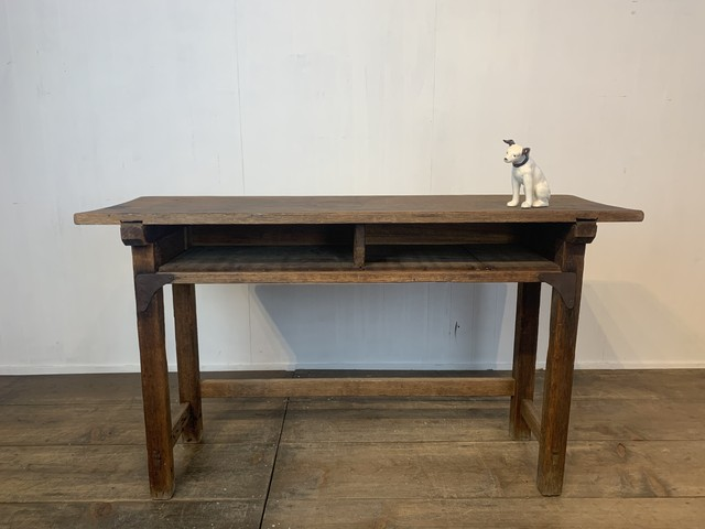 No.i18 古い学校の木製机 / 古道具