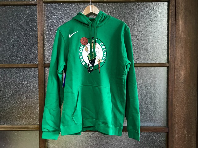 NIKE BOSTON CELTICS LOGO HOODIE (GREEN)