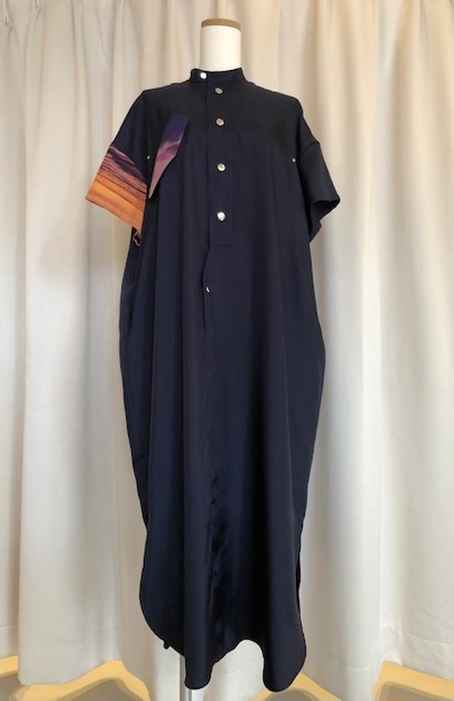 GVGV-BEACH PRINT OVERSIZE DRESS