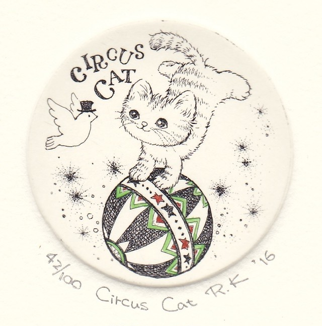 Circus Cat 銅版画(作品のみ)