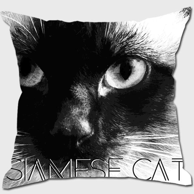 シャム猫 【IMPACT -shirokuro- 猫 クッション】