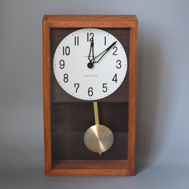 HINOKI PENDULUM CLOCK ヒノキペンデュラムクロック 振り子時計 カフェブラウン
