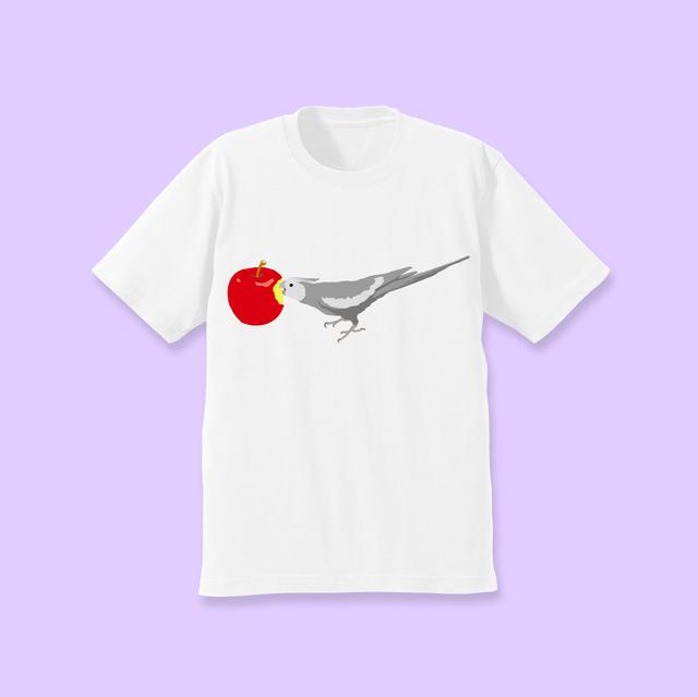 ことりちゃんTシャツ(オカメインコ ホワイトフェイス男の子)