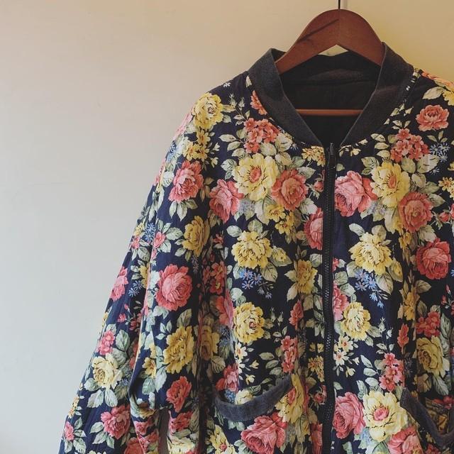 vintage flower design blouson