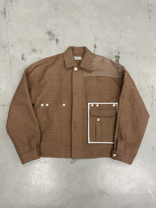 amachi. / Detachable Pocket Work Jacket (Soil Brown)