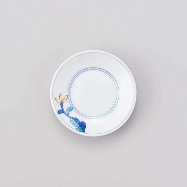 【華山窯】 菊絵三寸小皿(在庫あり切り)