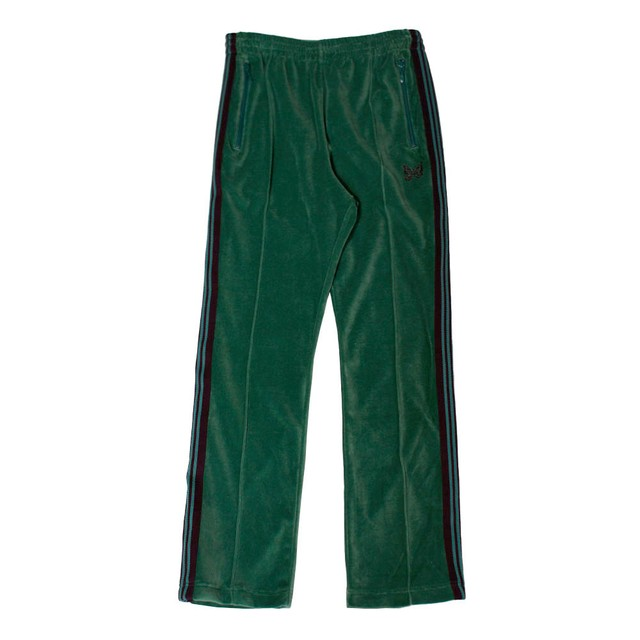 NEEDLES Velour Narrow Track Pants Green