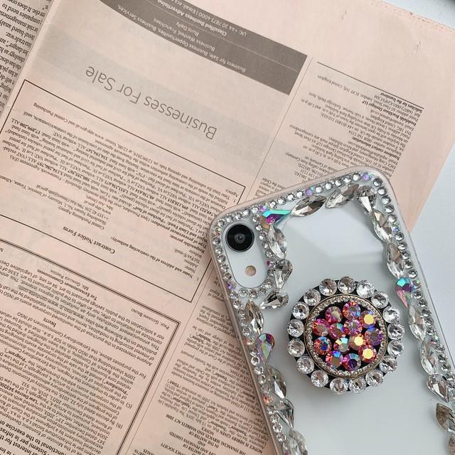 アクセサリー グリップ グリップトック iPhoneケース スマホケース キラキラ 高見え ストーングリップ ビジュー レディース かわいい 大人 おしゃれ 韓国