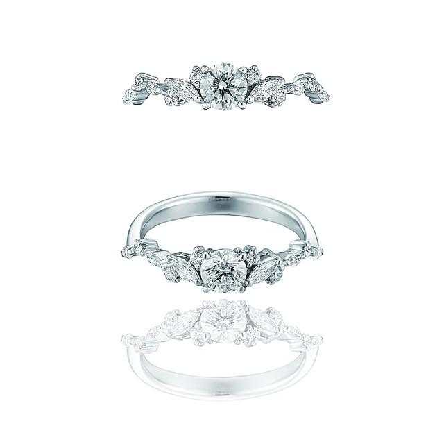 Tiara Ring / Pt900 3EX H&C Diamond