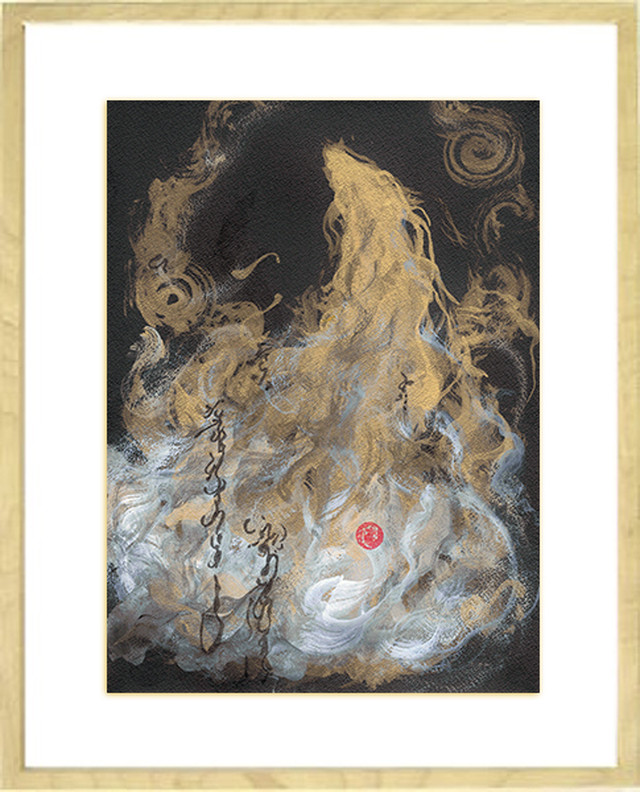 龍神画 ~金龍 上昇~ 風水原画F4サイズ