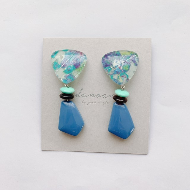 """ Earrings NO.danoan-1-1846″ リバティブルー"